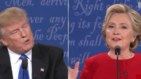 Clinton and Trump face off on first presidential debate stage