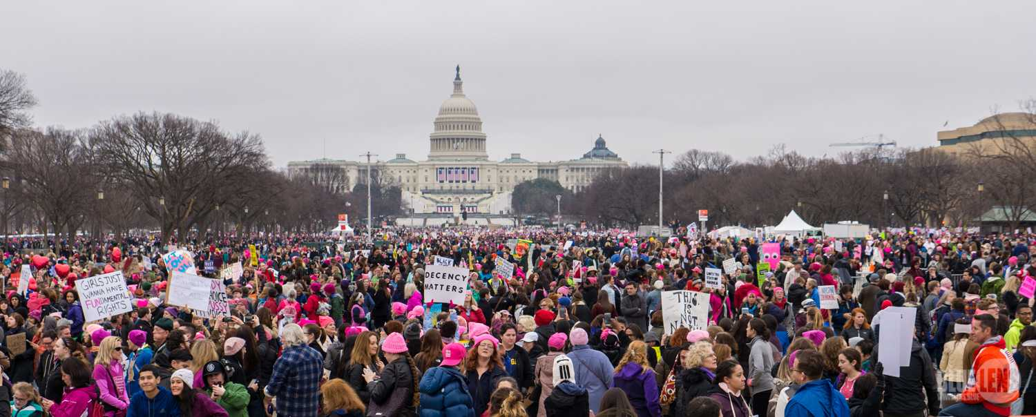 Women's March on  Washington protesters. Photo courtesy of Wikimedia Commons