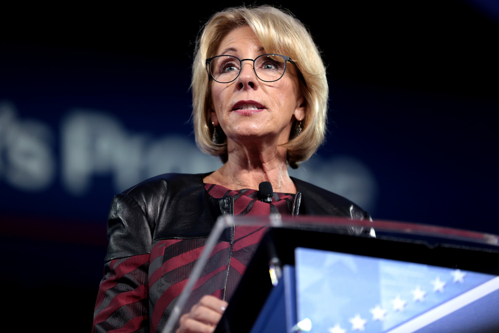 Betsy DeVos, Secretary of Eduction for the Trump administration