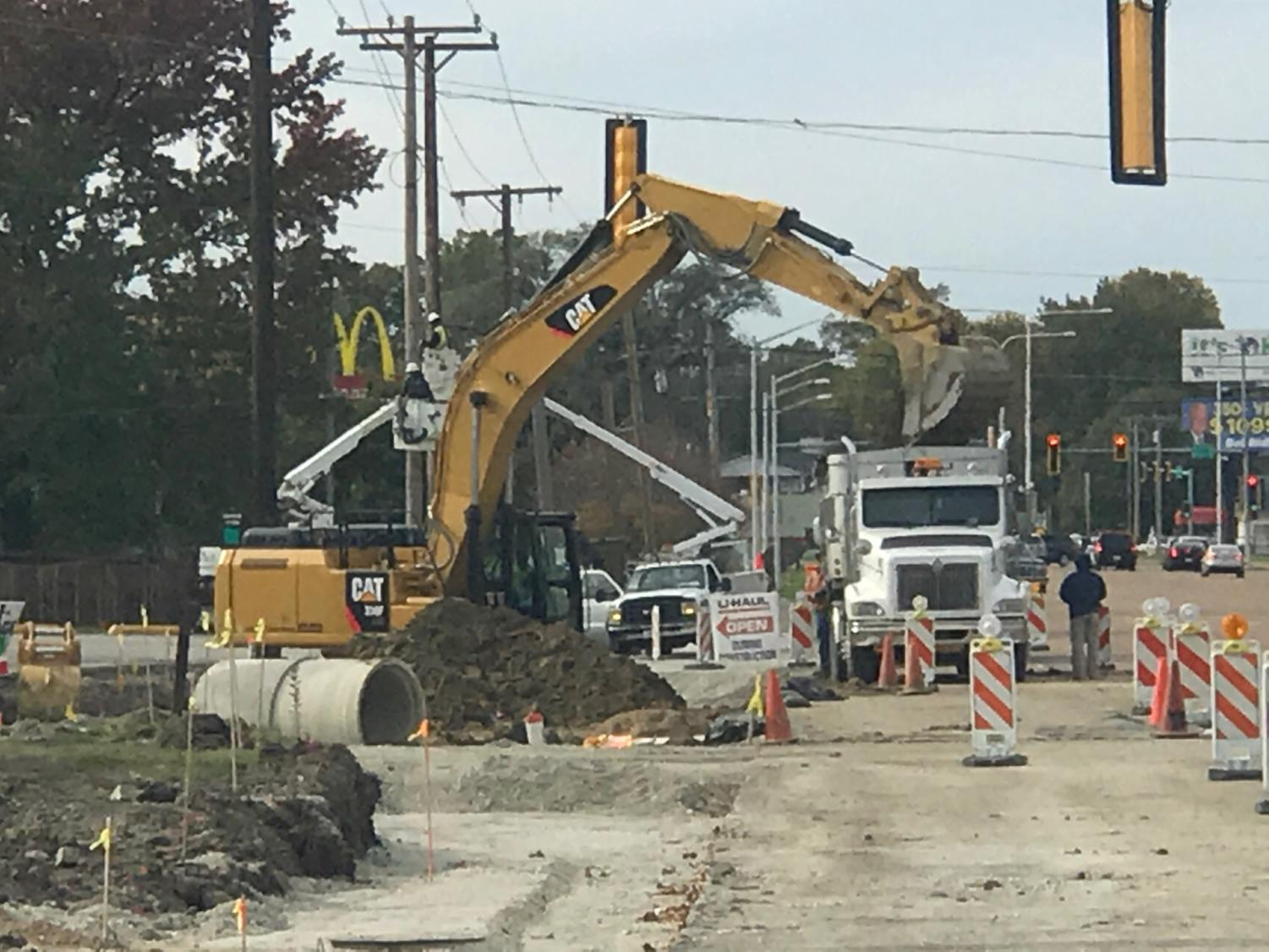 Construction of corridor continues on Stevenson Drive