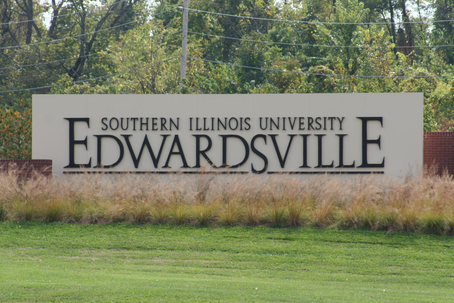 Southern Illinois University Edwardsvillle entry sign