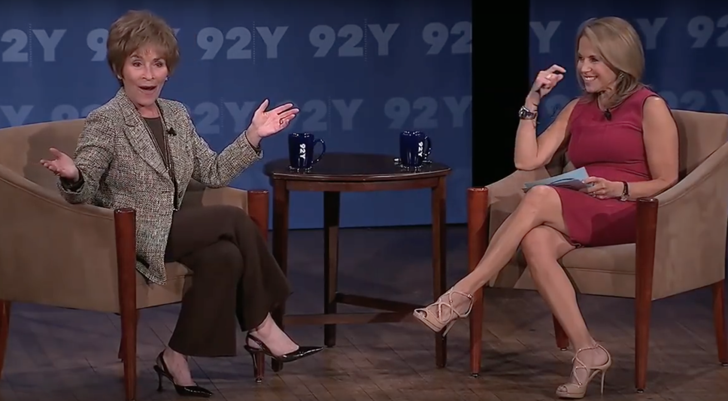 Judge Judy and Katie Couric in the 2013 interview