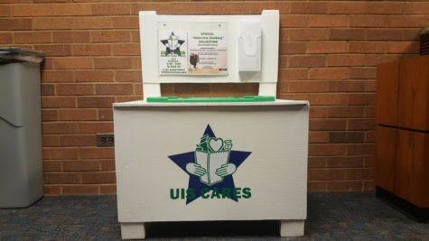 UIS Cares drop off location on the fifth floor of PAC Tower 3