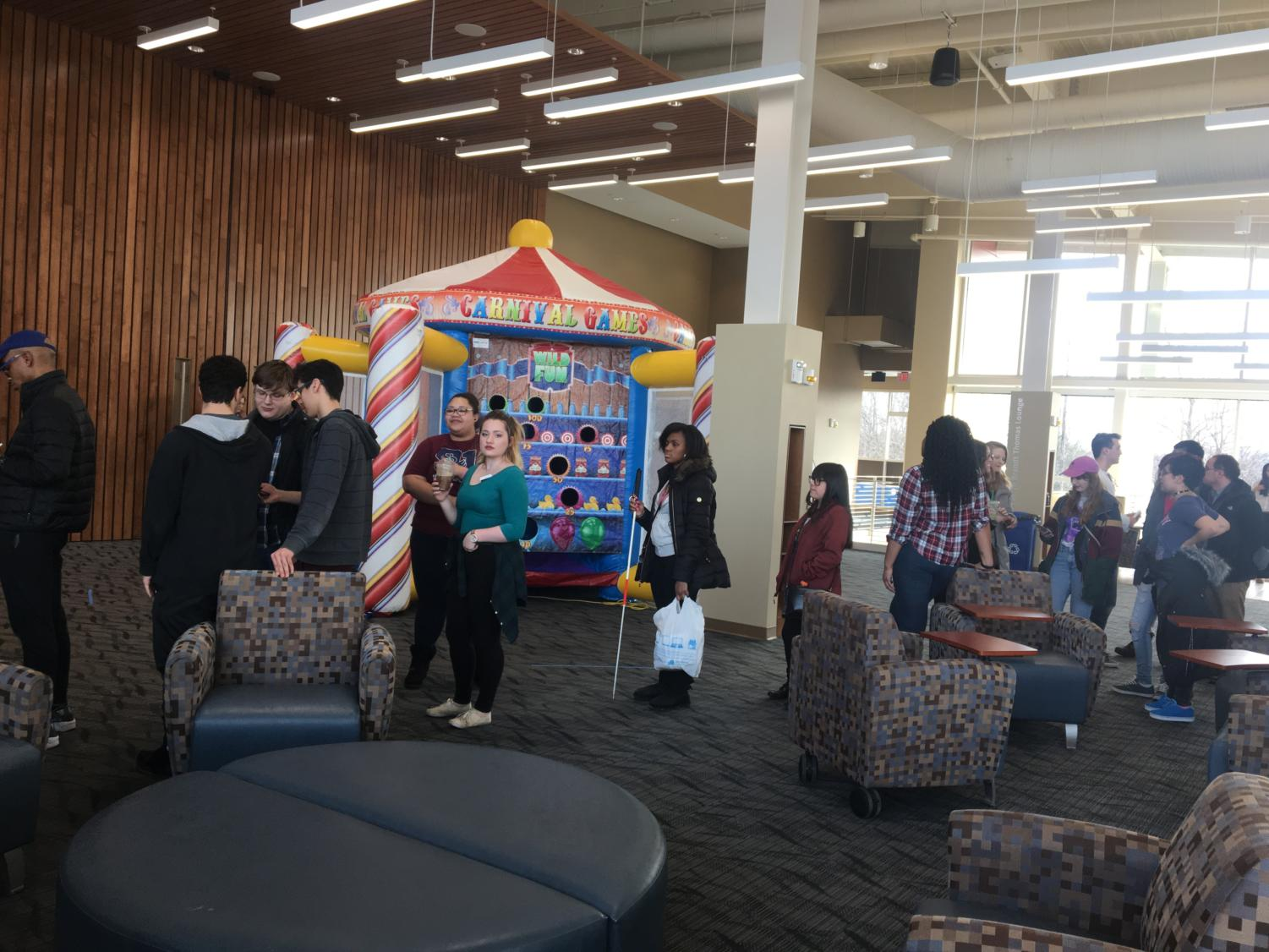 Students enjoying at the Student Union Carnival