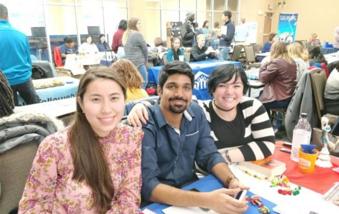 Maral, Girish and Zehra host of a table at the Involvement Expo