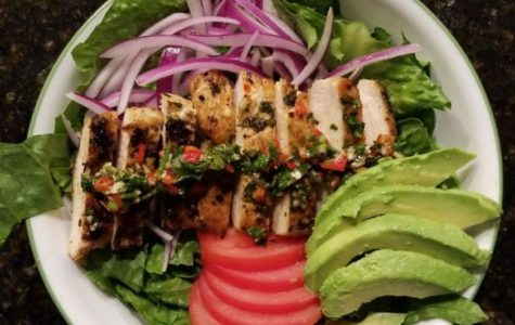 Food: Grilled Chicken Chimichuri salad