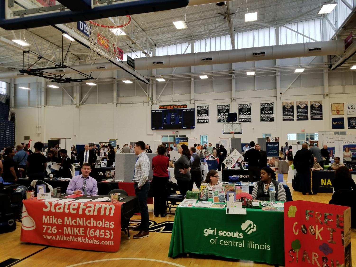 UIS career Expo was held at TRAC on Feb.15