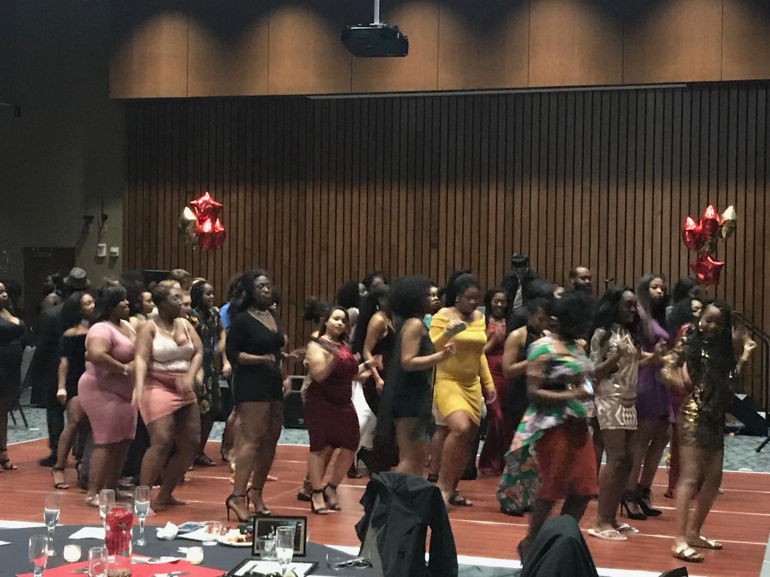Students dancing at the Ebony Ball