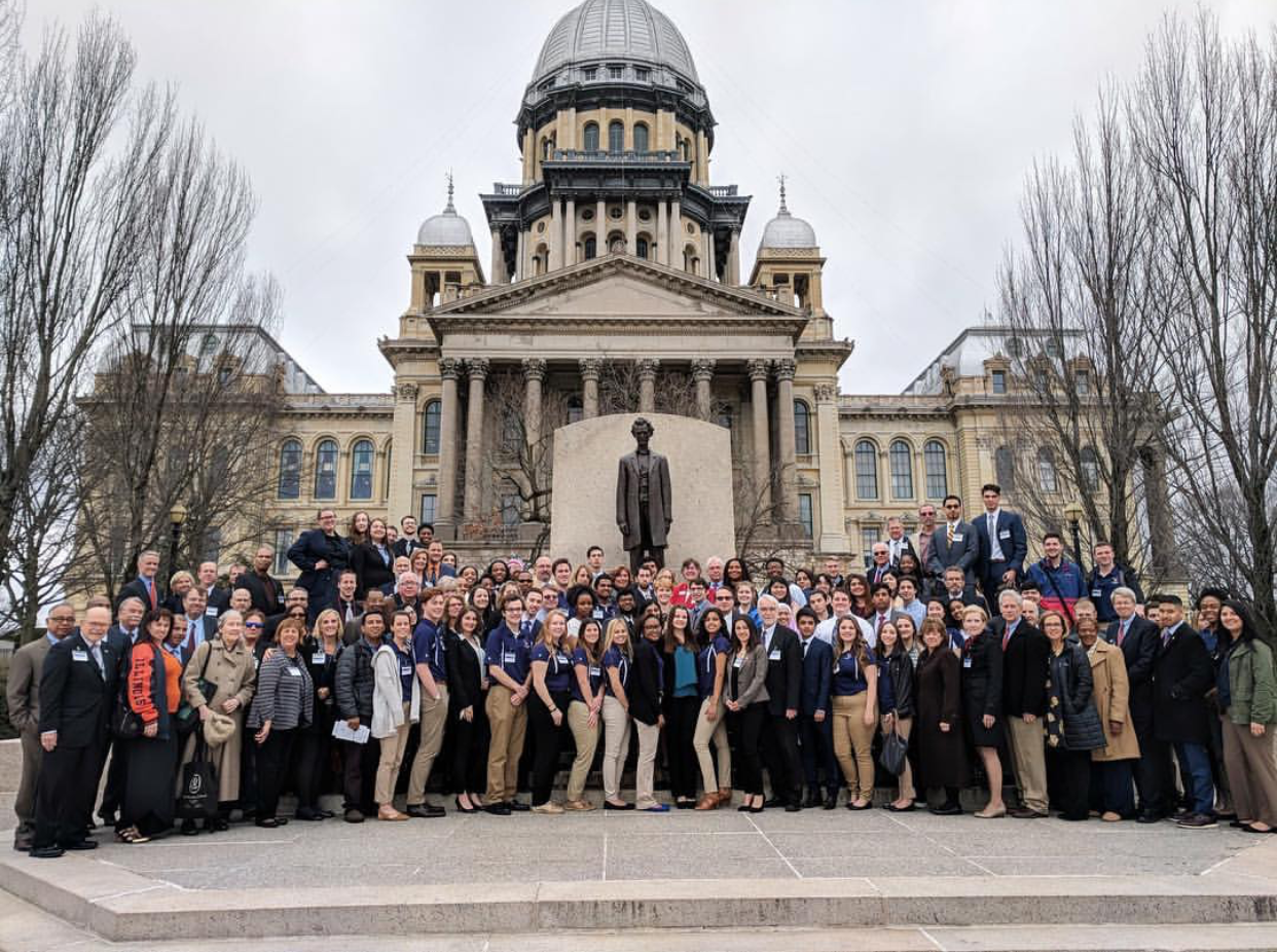 Students and alumni attended U of I day at the Capitol