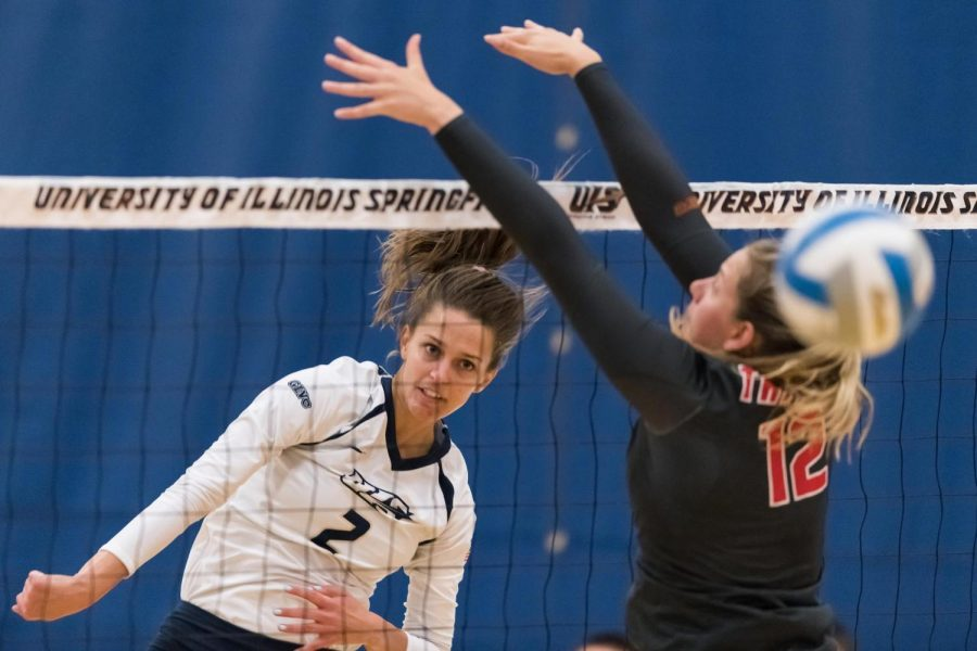 University of Illinois Springfield  Volleyball Ends Road Trip With 3-0 Victory Over Quincy