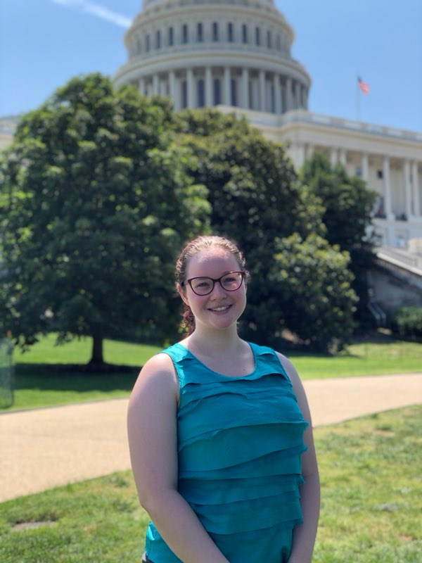 MACKENZI MATTHEWS IMAGED IN FRONT OF THE UNITED STATES CAPITAL BUILDING