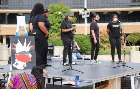 Image of Voices in Praise group at the UIS Prairie Protest