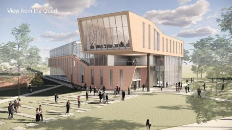 New Library Design from the Quad | Photo Credit: Bailey Edward Design Team