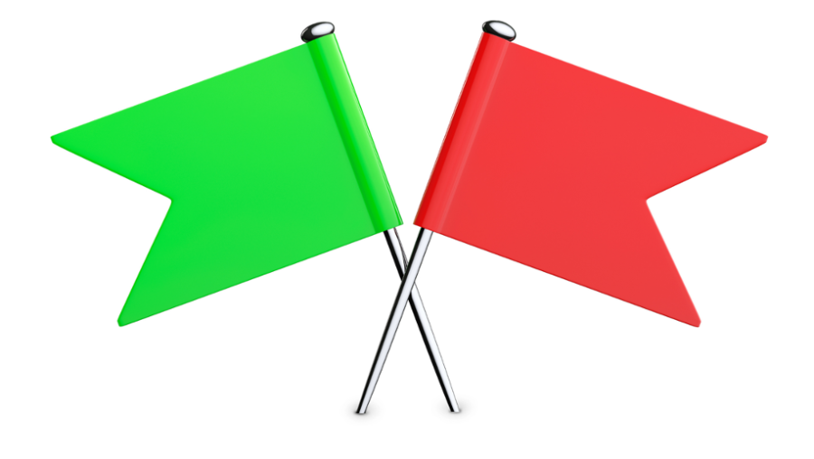 The Psychology of Red & Green Flags in Relationships